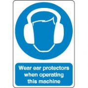 Mandatory Safety Sign - Wear Ears Protectors 175